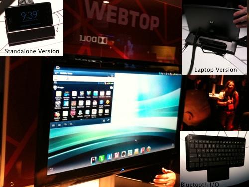 Motorolla Mobile Webtop at CES 2012